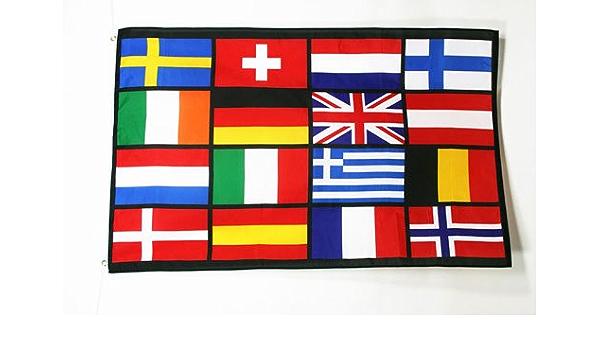 علم الدول الأوروبية 3 X 5 اعلام أوروبا 90 X 150 سم لافتة 3x5 قدم Amazon Ae