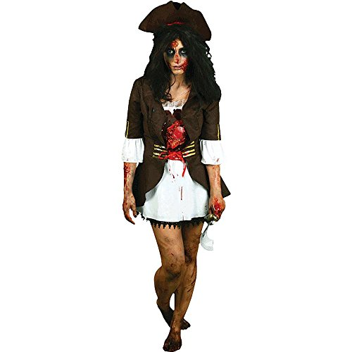 Morph Costume Co. da Morphsuits cuore battere Femminile Pirate Costume Digital (L)