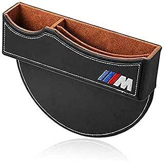 ephvan M Line Seat Gap Filler,Car Seat Storage Box for BMW (Black)