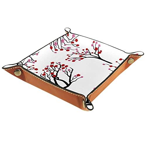 Caja de bandeja de flor de ciruelo para equipos de oficina