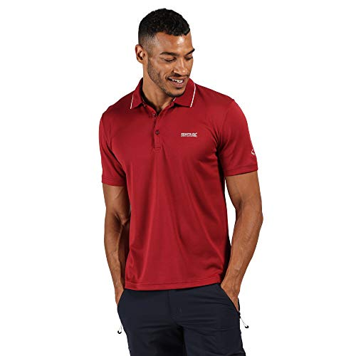 Regatta Maverick V-Polo Deportivo De Secado Rápido T-Shirts/Polos/Vests, Hombre, Delhi Red, XL