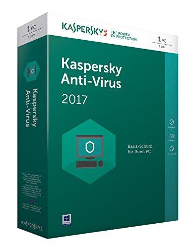 Kaspersky Anti-Virus 2017 (Code in a Box) Vollversion - 1 PC / 1 Jahr