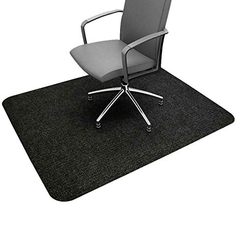 Office Chair Mat for Hardwood/Tile Floor 48 x 36',0.16' Thick Under Hard Floor Protector Desk Mat for Rolling Chair and Computer Desk,Anti-Slip,Non-Curve,Multi-Purpose Rug (Not for Carpet) Dark Gray
