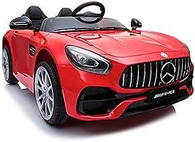 Indalchess Coche Infantil GTR AMG 12V, Rojo, 2 plazas (2 niños pequeños de hasta 4 años) AC-BDM0920