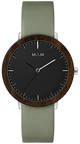 Mam Relojes ferra Reloj para Hombre Analógico de Cuarzo japonés con Brazalete de Piel de Vaca 625