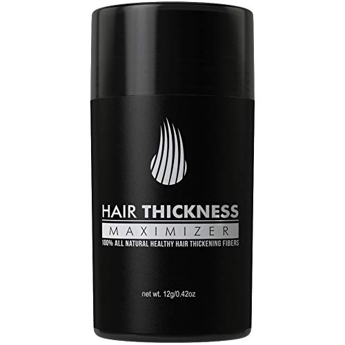 Hair Thickness Maximizer 2.0 - Safer Than Keratin Hair Building Fibers with 2nd Gen All Natural Plant Based Hair Loss Concealing Fillers for Instant Thickening of Thinning or Balding Hair (Dark Brown)