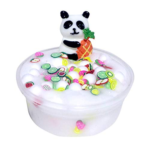 callm Panda Beads Slime Clay Sludge Toy Kids Adult Stress Relief Plasticin Toys Gift - 60ml