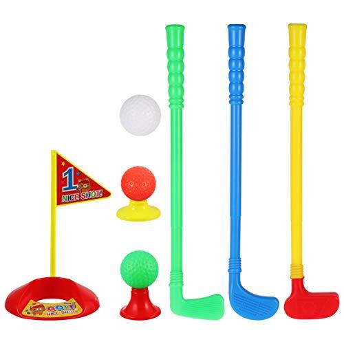 LIOOBO 1 Set Plastic Golf Club Toy Set Golf Club Suit Kids Golf Ball Kit Golfer Club Toys Set for Kids Children Boys and Girls Gift