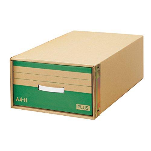 プラス ダンボールキャビネット 再生紙 積み重ねタイプ A4判用H型 40-902