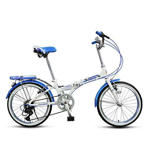 Kids' Bikes Variable Speed Bicycle Folding Bicycle Student Bicycle City Bicycle boy Girl Bicycle Small Bicycle, 20 inches, The Best Gift (Color : Blue, Size : 15030122cm)