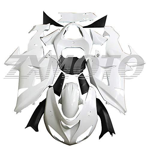 ZXMOTO Unpainted Motorcycle Fairing Kit for 2006 2007 Kawasaki Ninja ZX10R Injection Mold ABS Plastic Bodywork Fairings