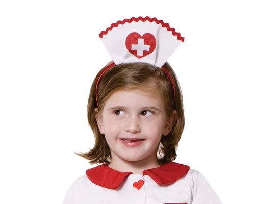 Dress Up America Bandeau petite infirmière pour filles; Blanc; Enfants , Taille enfant , Comme la Présentation