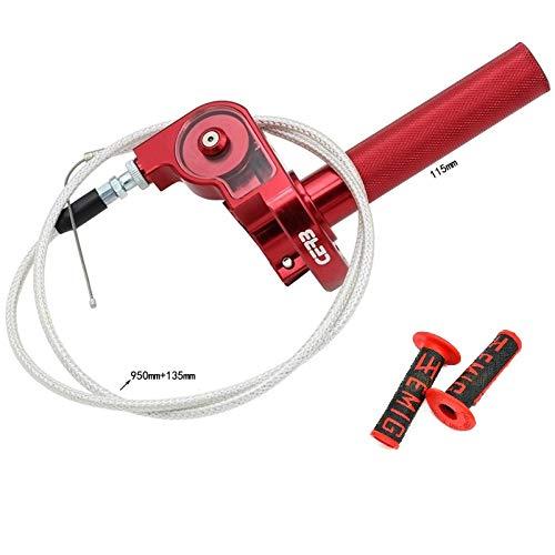 Puño Mando de Gas Corto rapido para Acelerador de Motos Aluminio con Cable y agarres