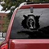 Tomsi Halloween car Stickers, 3D Scary Silent Skull Sticker Waterproof Removable Decal for Car,Window,Home Decor (12x8inch)