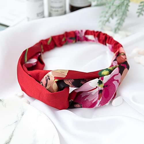 Diademas estampadas para mujer, bandas para el cabello de verano, turbante cruzado liso suave, accesorios para el cabello, accesorios para niñas