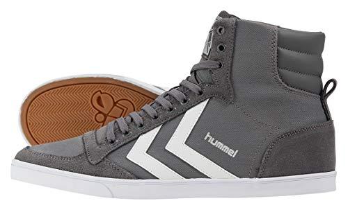 hummel HUMMEL SLIMMER STADIL HIGH, Unisex-Erwachsene Hohe Sneakers, Grau (Castle Rock/White KH), 38 EU (5 Erwachsene UK)