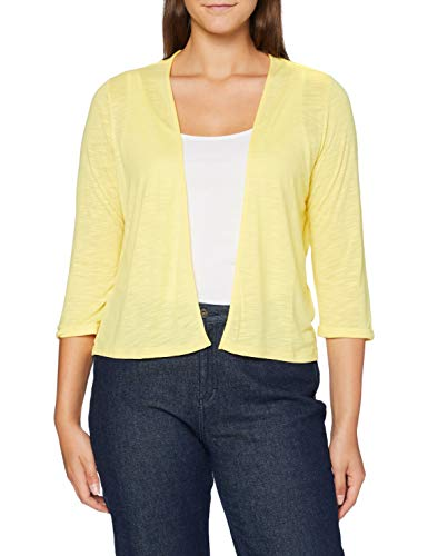 Cecil Damen 315145 TOS Short T-Shirtjacket Strickjacke, Radiant Yellow, Medium