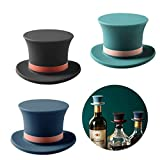 Wine Bottle Stoppers,Wine Stoppers for Wine Bottle,Top Hat Bottle Stopper Decorative for Champagne Soda,Set of 3