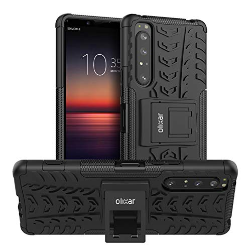 Olixar for Sony Xperia 1 II Protective Case - Shockproof Air Cushion and Dual Layer with Kickstand
