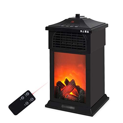 BBGS Elektrisk eldspis, bärbar fristående kupévärmare med fjärrkontroll och timer, eldstädervärmare för hemmakontoret