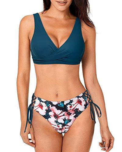 RXRXCOCO - Bikini de encaje para mujer, 2 piezas, bikini