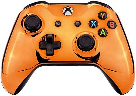 eXtremeRate Chrome Orange Edition Front Housing Shell for Xbox One Wireless Controller Model product image