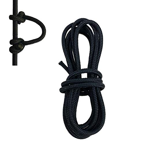 HRCHCG 2pcs 39 inch Archery D Loop Rope Bow String D Ring Buckle Release Nock Compound Bow U Rope Release Aids Hunting Accessories