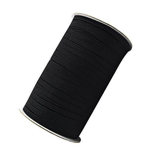 100 Yard 1/4 Inch Wide Elastic String Cord Bands Rope for Sewing Crafts DIY Masks, Clothes and Home Decoration (Black)