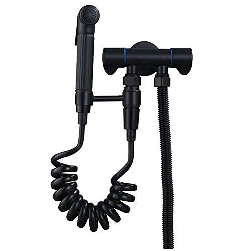 Wstomys Negro Inodoro Flusher Hogar Pistola Booster Grifo Ginecológico Lavadora Boquilla Baño Alta Presión Agua Jet
