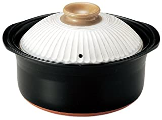 萬古焼 銀峯陶器 菊花 ごはん土鍋 (粉引, 5合炊き)