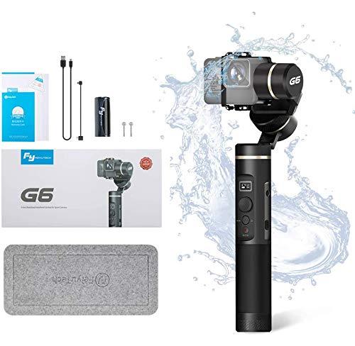 FeiyuTech G6 - Estabilizador de mano de 3 ejes, cardán para cámara de acción Gopro Hero 8/7/6/5/4/3, Sony RX0, YI-4K, AEE...