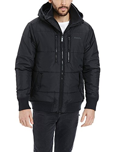 Bench Herren Steppjacke Mantel ARMATURE, Gr. Large, Schwarz (Black BK014)