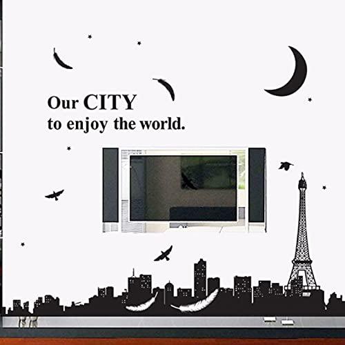 Luna Star Sofá Dormitorio Sala Tv Pared Personalidad Pegatinas Pared Decoraciones de la Mesita de Noche