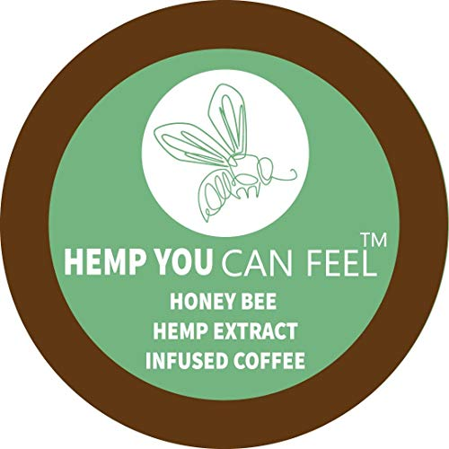 Hemp You Can feel Organic Hemp from Bees infused Coffee, 12 count pods