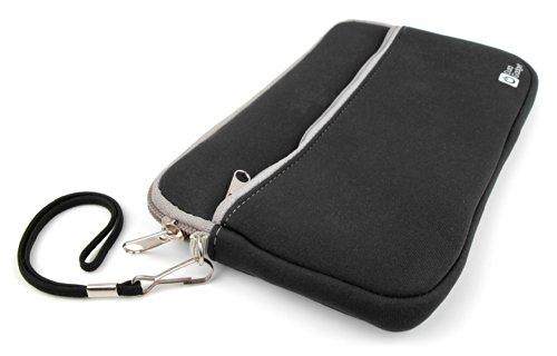 DURAGADGET Custodia Neoprene Nera Per Calcolatrice Casio fx-991ES PLUS | FX-570ES Plus - Tasca Esterna + Maniglia Di Trasporto