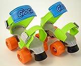Gioca IGM215-B - Pattini con telaio rinforzato in plastica regolazione rapida,  Misura: 24-36, Colori assortiti
