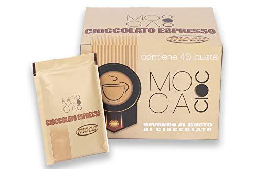 Caffè Moca - Bevanda Solubile al Gusto di Cioccolato - Mocacioc Cioccolata Calda - 40 Bustine da 25gr
