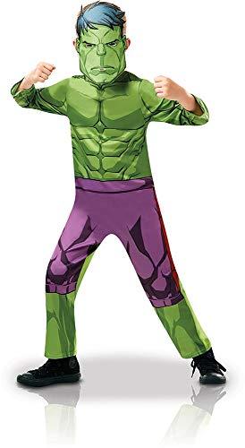 Rubie 's 640838l Officiële Marvel Avengers Hulk Classic kind, costuum-large leeftijd 128 cm, jongens, 7-8