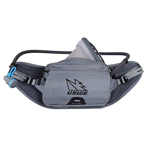 USWE Sports Zulo 2 Waist Belt with Hydratation, Grey, Fits All