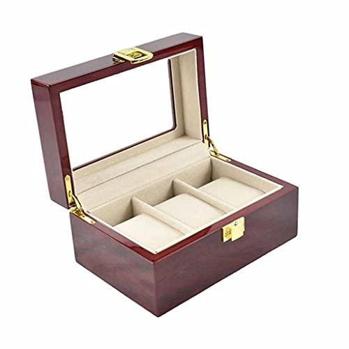SHYPT Vente Boîte de Montre Montre Organisateur 12 Grids Wooden Watch Storage Cas de Stockage Boîte de Rangement Boîte à Bijoux Porte-Organisateur (Color : E)