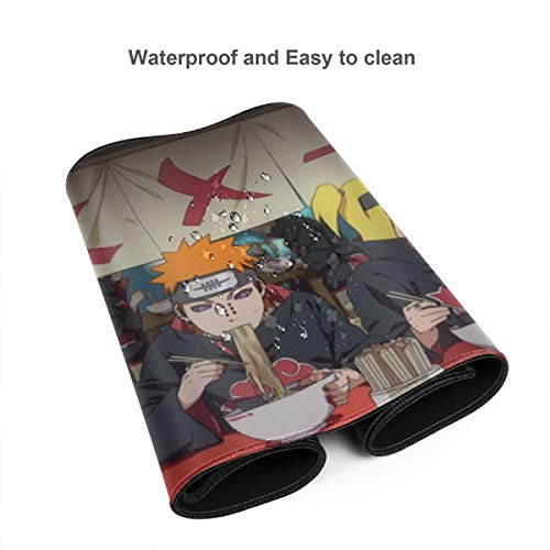 Japan Anime Naruto Akatsuki Mouse Pad Rectangle Non-Slip Rubber Electronic Sports Oversized Large Mousepad Gaming Dedicated,for Laptop Computer & PC 11.8X31.5 Inch Photo #3