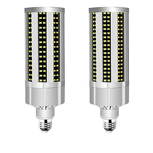 2 Pezzi LED Lampadine E2720W Luce Bianca Fredda Equivalenti A Incandescenza, Edison Screw Lampada Lampadina Candela Led Lampadina Mais Pannocchia (4000K (True White))