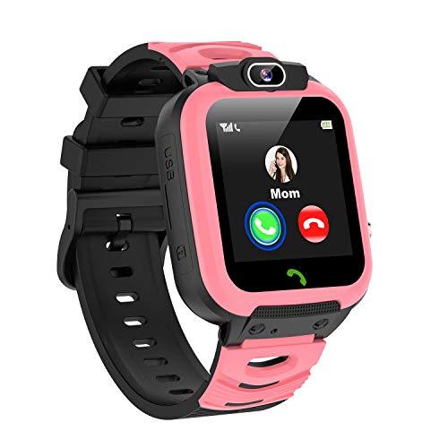 Smartwatch Niños, MP3 Música 14 Juegos Reloj Inteligente NiñoLlamada de Pantalla Táctil de 2 Vías SOS Vídeo Cámara Temporizador, Reloj Niños Niña,Soporta 4G/2G Nano SIM