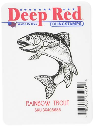 Deep Red Stamps 3X405685 Deep Red Cling Stamp, Multicolor