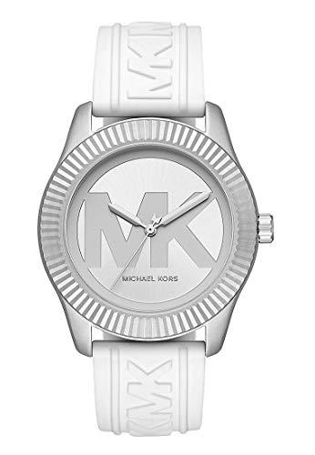 Michael Kors MK6800 Uhr Damenuhr Kautschuk Aluminium 5 bar Analog weiß