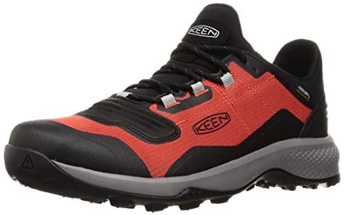KEEN Men's Tempo Flex Low Height Lightweight Waterproof Hiking Shoe, Orange/Black, 15 D (Medium) US