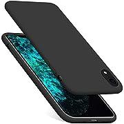 Meidom Silikon Hülle Kompatibel mit iPhone XR Ultra Dünn Hochwertigem Schutzhülle Stoßfest Anti-Fingerabdruck Handyhülle Case für iPhone XR 6,1 Zoll - Schwarz