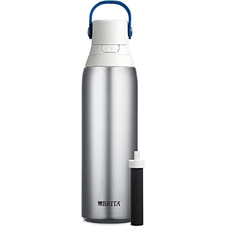Brita Stainless Steel Water Filter Bottle, Stainless Steel, 20 Ounce, 1 Count