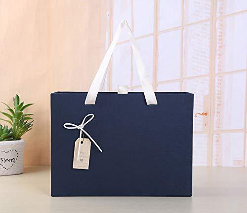 Bufanda para hombre caja de regalo azul caja de regalo con ventosa caja rectangular de alta gama para regalo de cumpleaños caja tipo billetera caja grande vacía caja de regalo con cajón caja de regalo
