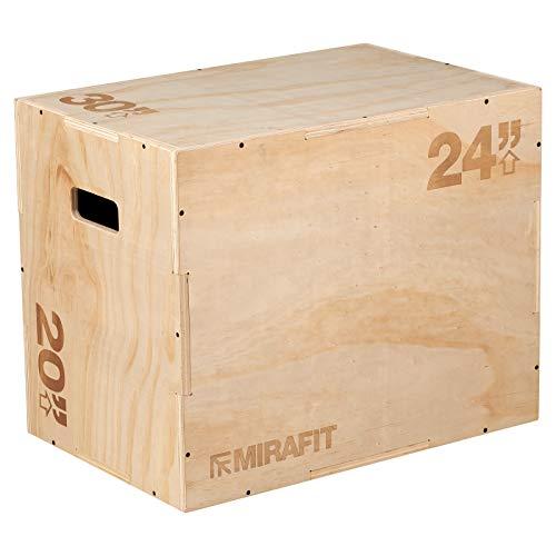 """Mirafit 3in1 Wooden Plyo Jump Box - 30"""" x 24"""" x 20"""""""